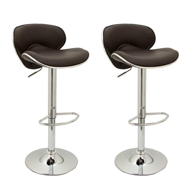 Pair of Casino Bar Stools (Black, Cream, Red, White, Brown, Grey)