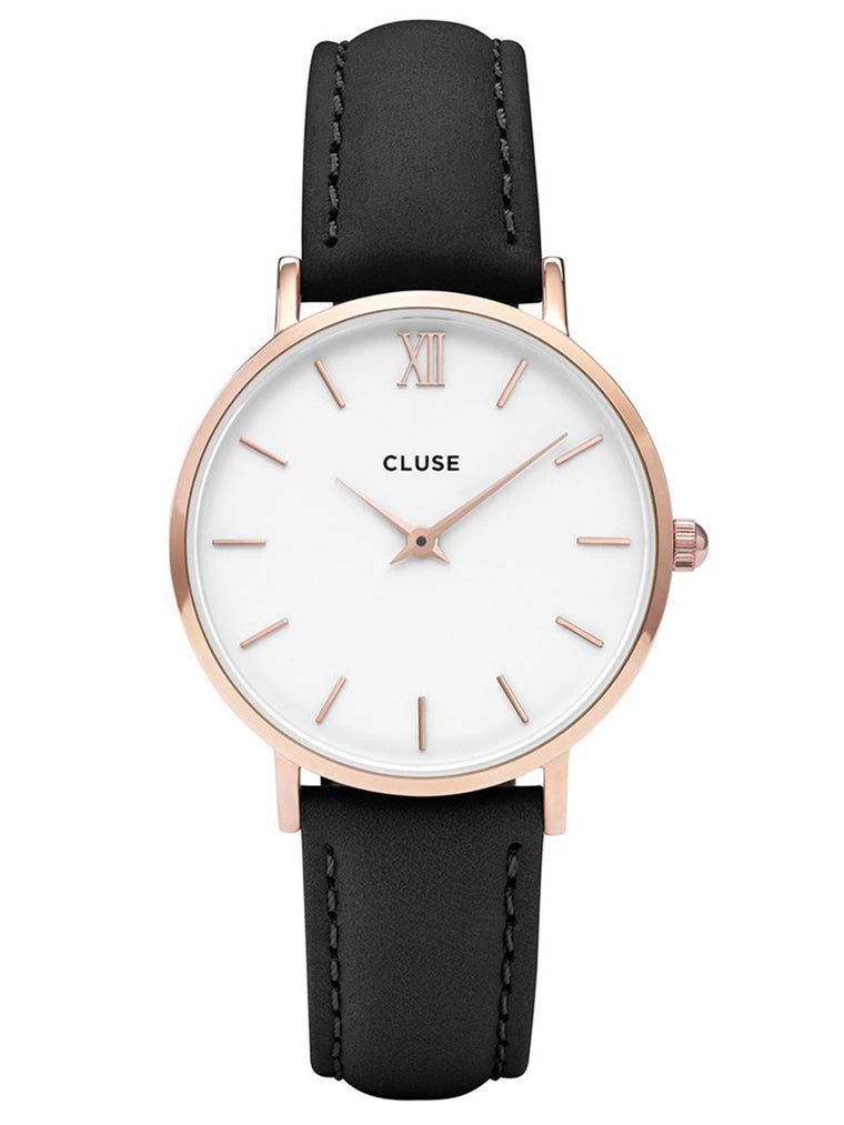 Cluse Minuit Ladies PVD Rose Gold Plated Watch - CL30003