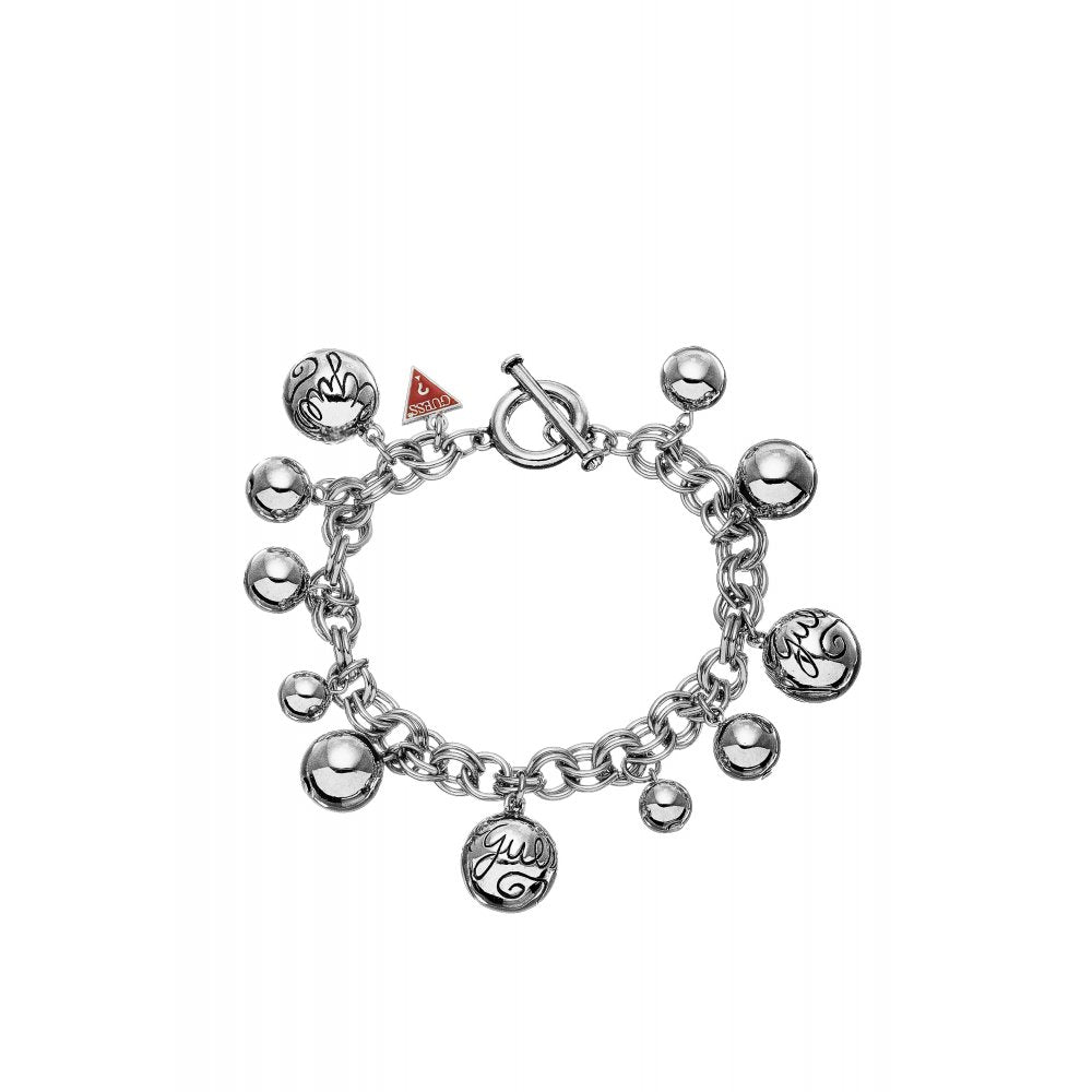 Guess Jewellery UBB80812 Ladies Silver Tone Bauble Bracelet