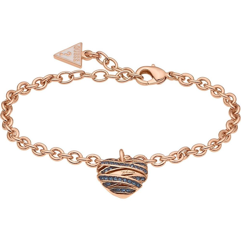 Guess Jewellery UBB21597-S Women's Bracelet with Heart Pendant Rose Gold