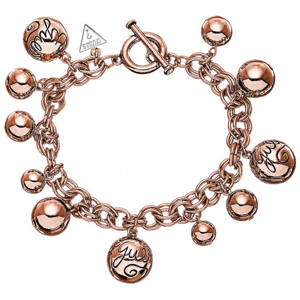 Guess Jewellery UBB51201 Ladies Rose Gold Tone Bauble Bracelet