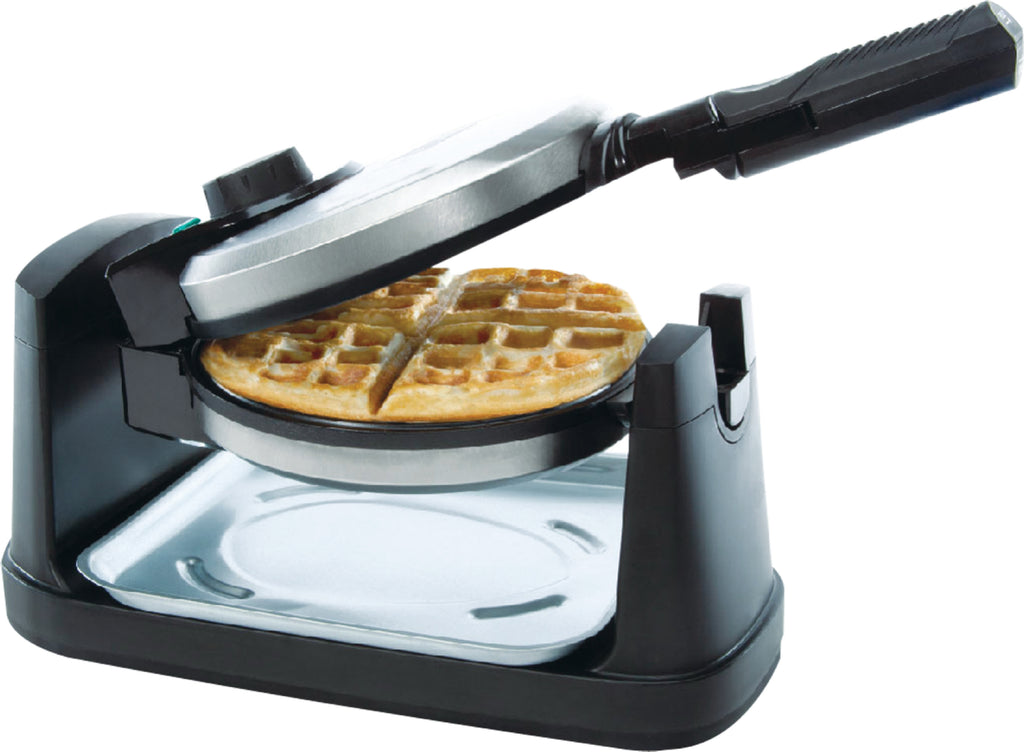 Belgian Waffle Maker Rotating Electric Deluxe Iron Machine Non-Stick Temperature Control Stainless Steel