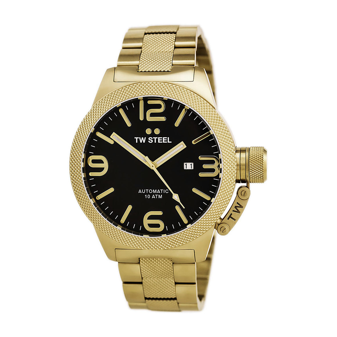 TW Steel CB96 Canteen Men's Automatic Black Dial Gold-Tone Stainless Steel Quartz Watch