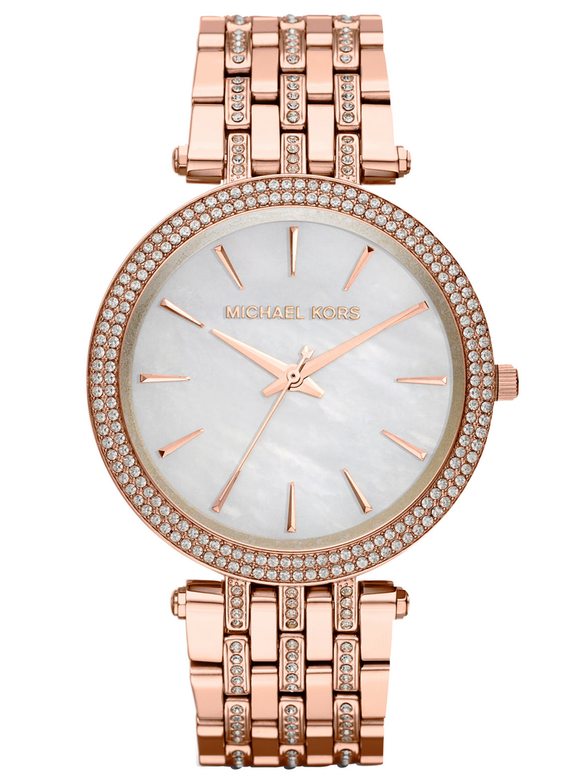 Michael Kors MK3220 Ladies Darci Glitz PVD Rose Gold Watch