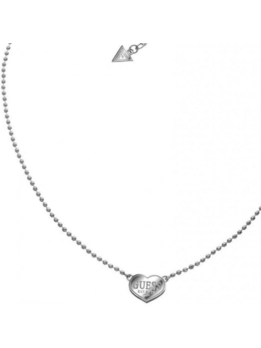 Guess USN11009 Ladies' Necklace with Heart Pendant Silver
