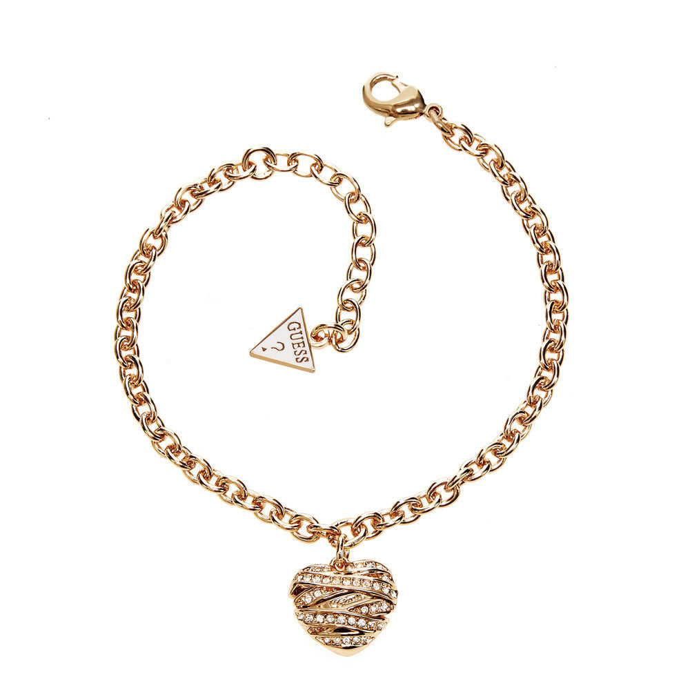 Guess Jewellery UBB21595 Ladies Bracelet with Heart Pendant Gold