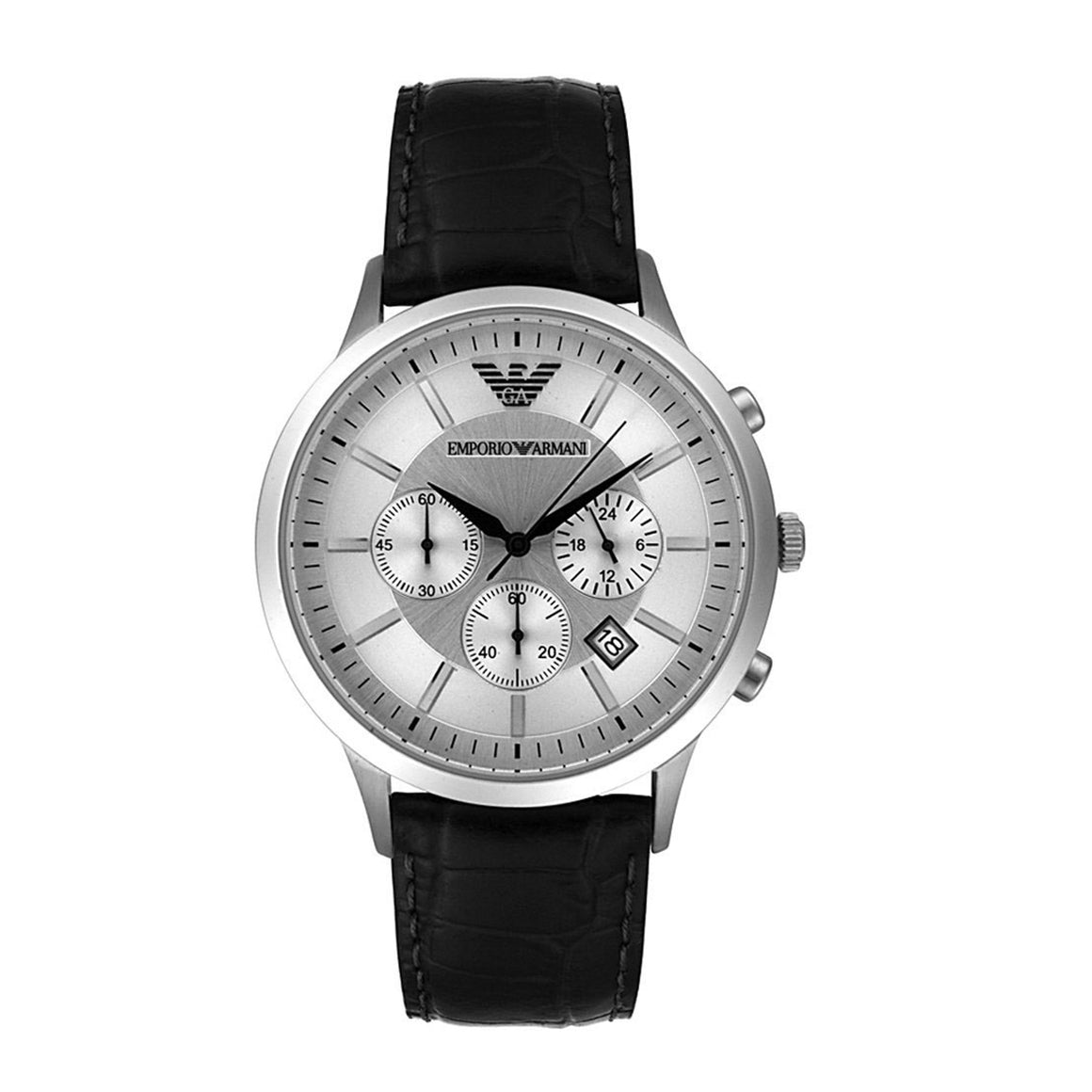 Emporio Armani AR2432 Men's Black Leather Watch