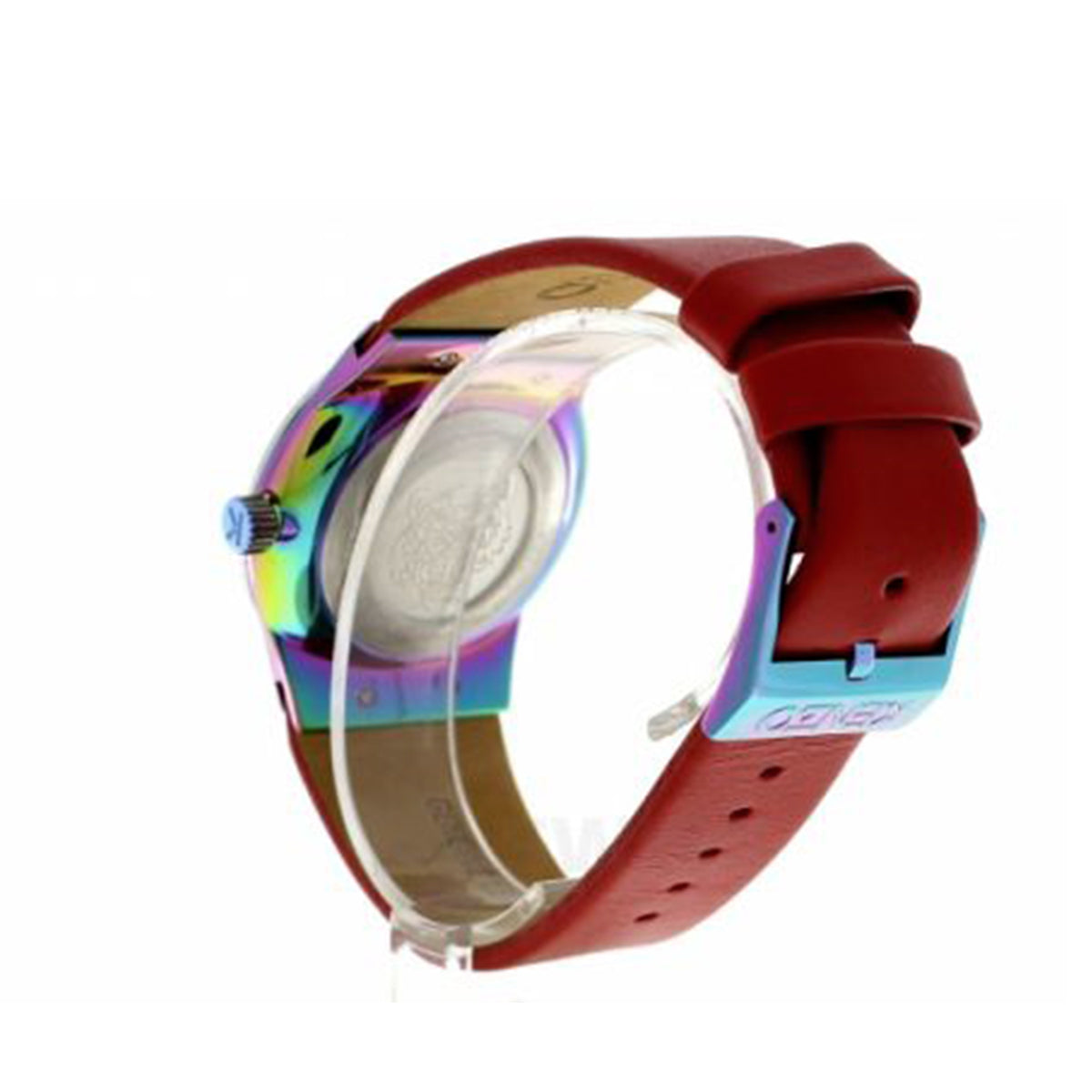 dbe3f5e3 Kenzo K0024004 Red Leather Strap Men's Watch - MIMO DEALS