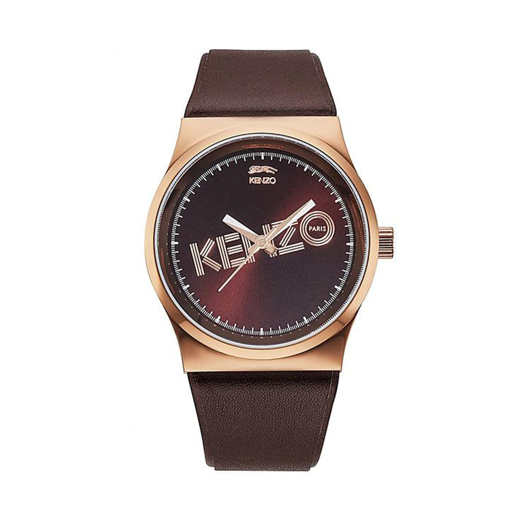 Kenzo KZ9600310 Brown Leather Strap Ladies Watch