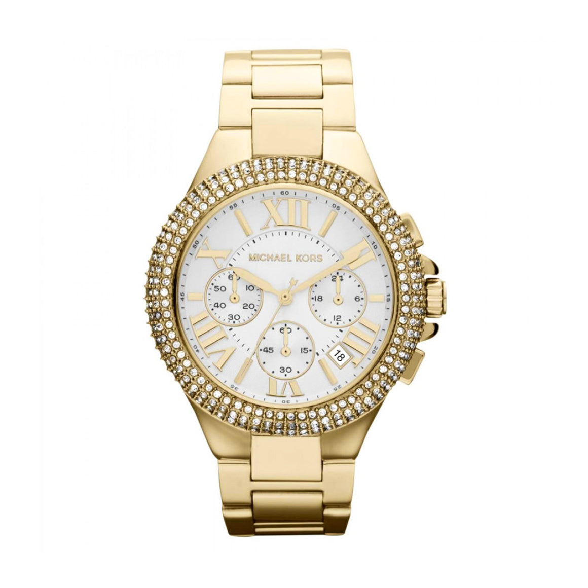 Michael Kors MK5756 Bradshaw Ladies' Chronograph Gold-tone Stainless Steel Quartz Watch
