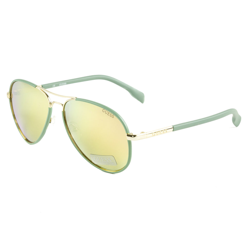 Guess Women's Mirror Lens Full Rim Aviator Sunglasses-  GF0261 5932G