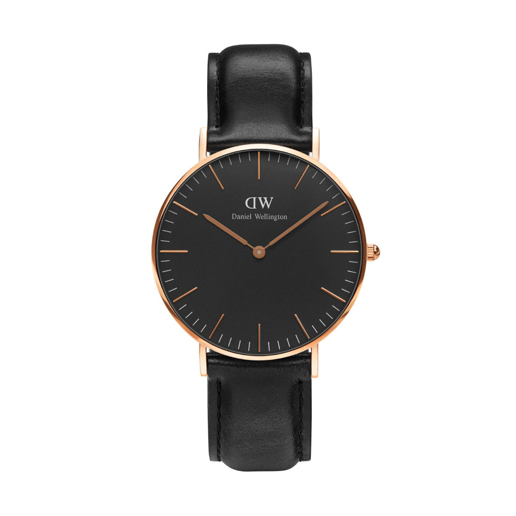 Daniel Wellington DW00100139 Classic Black Sheffield Ladies' 36 mm Rose Gold Watch