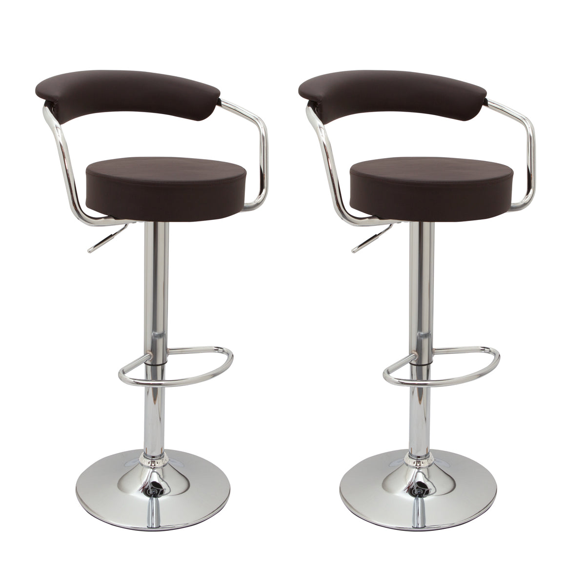 Pair of Toledo Bar Stools (Black, Cream, Red, White, Brown, Grey)