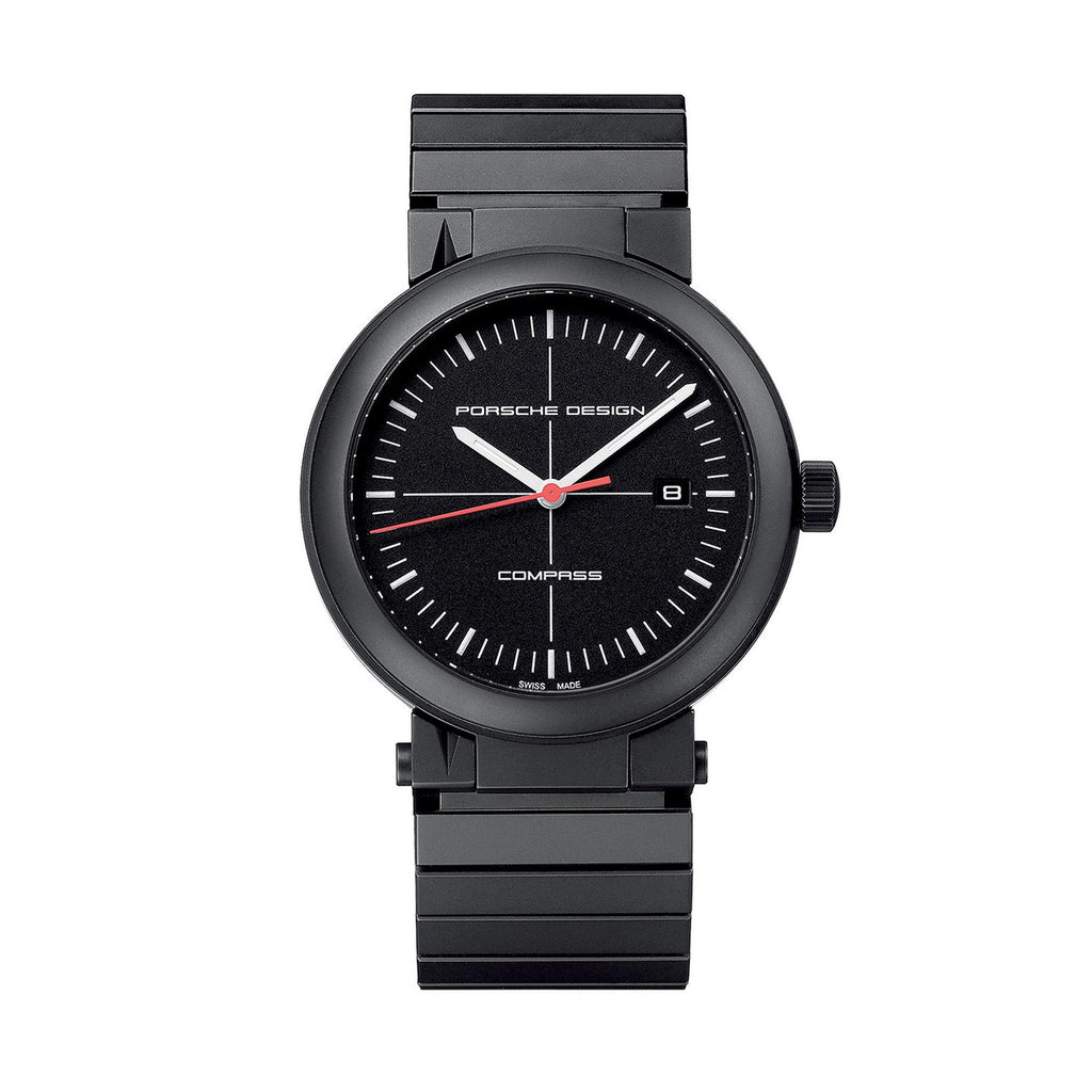 Porsche Design 6520.13.41.0270 Mens Compass Black PVD Titanium Calendar Quartz Watch