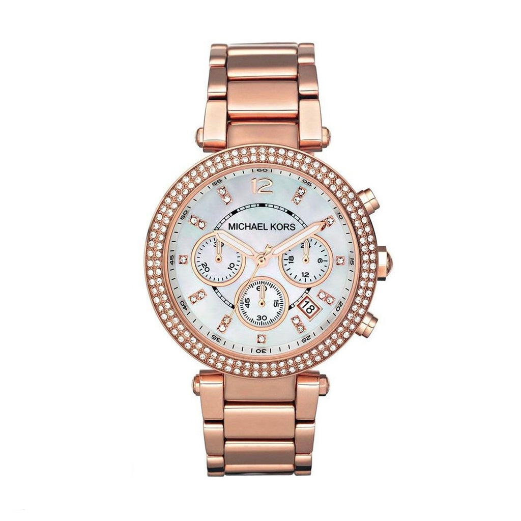 Michael Kors MK5491 Ladies Rose Gold Parker Chronograph Watch