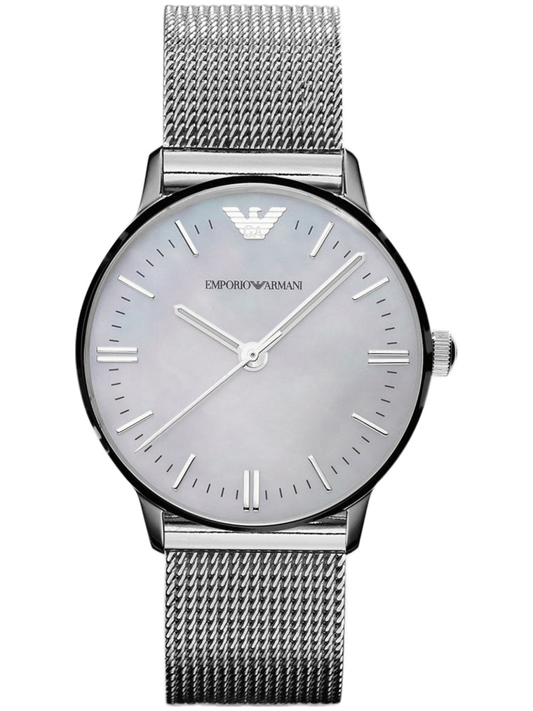 Emporio Armani AR1631 Women's Classic Silver Dial Stainless Steel Case Quartz Watch