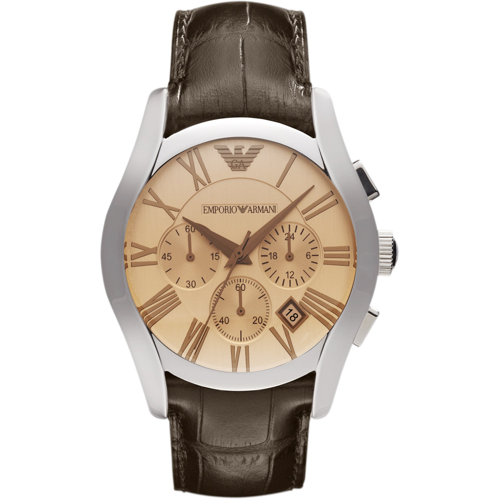 Emporio Armani AR1634 Mens Brown Leather Watch