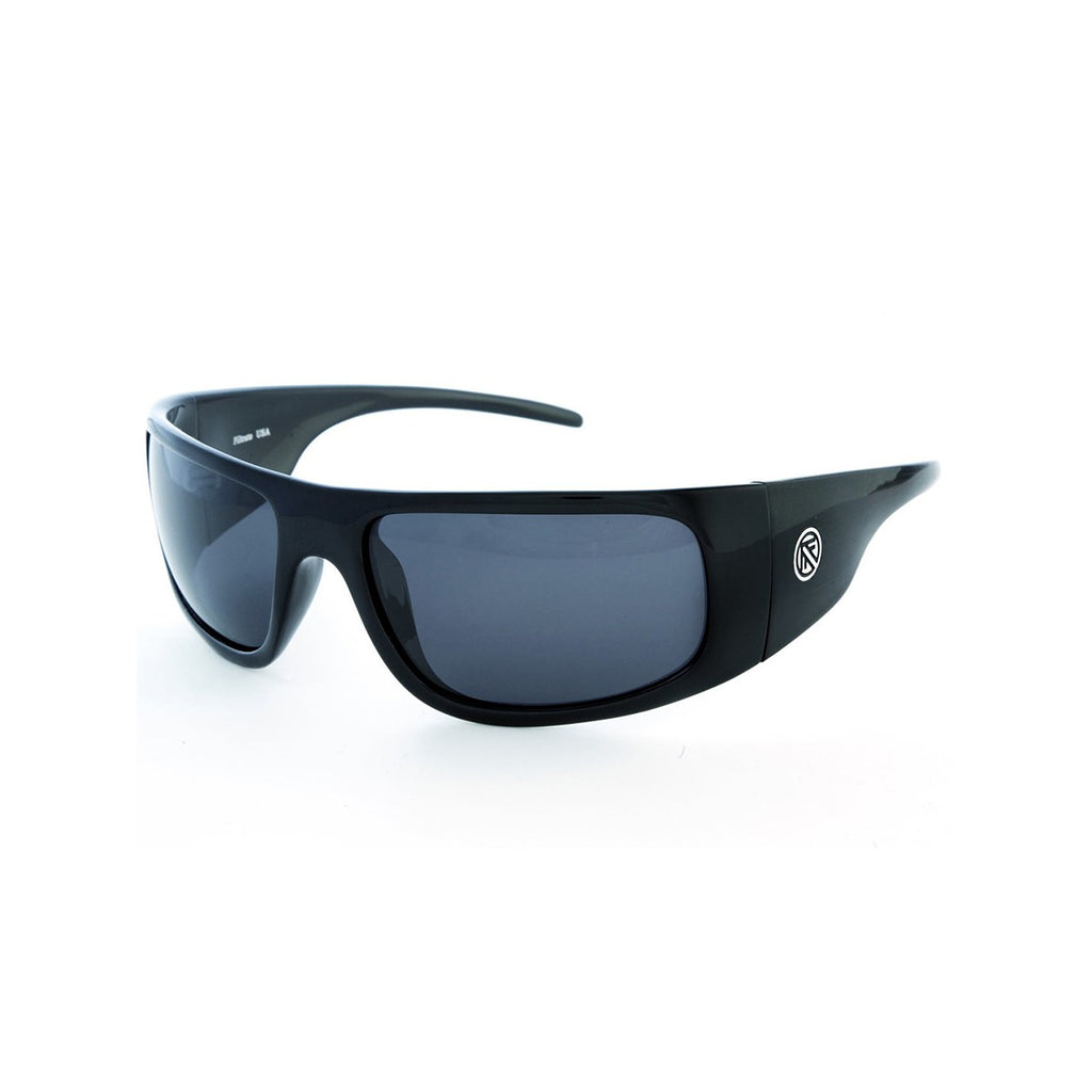 Filtrate Vinyl Black Polarized Unisex Sunglasses