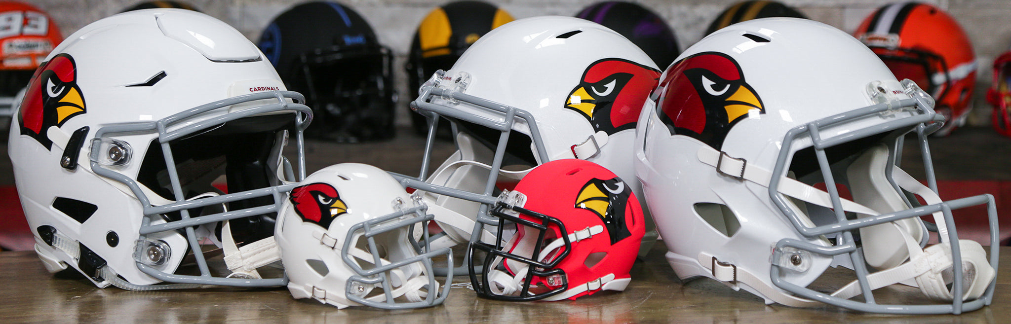 Arizona Cardinals Helmets Wide