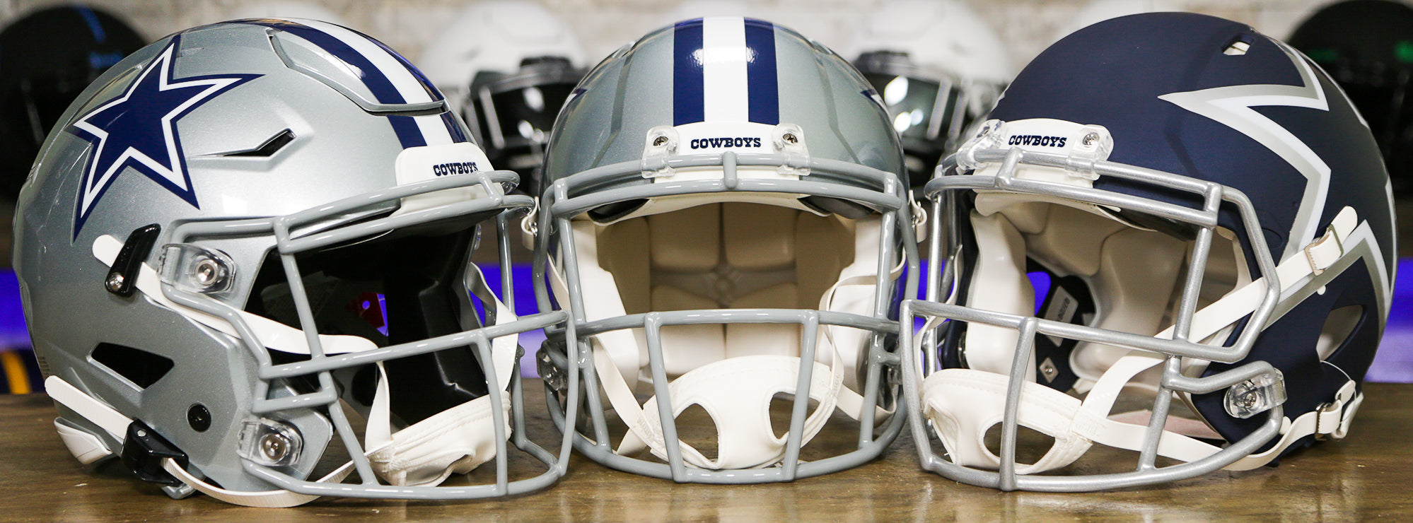 Dallas Cowboys Helmets Wide