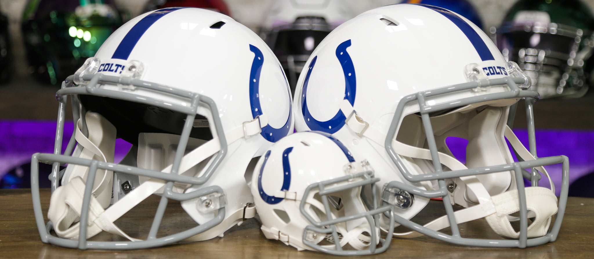 Indianapolis Colts Helmets Wide