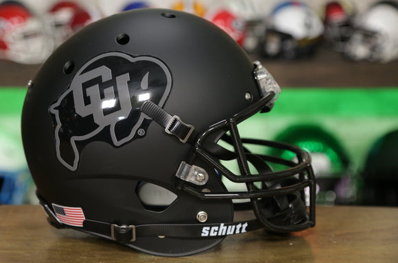 Colorado Buffaloes Schutt XP Replica Helmet - Matte Black & Gray