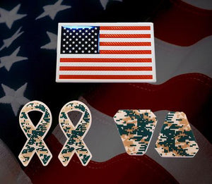US Flag Camo Decals Pride Pack