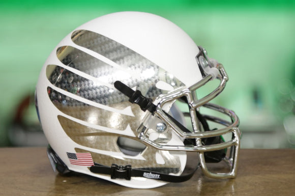 Oregon Ducks Schutt XP Mini Helmet - White w/Wings