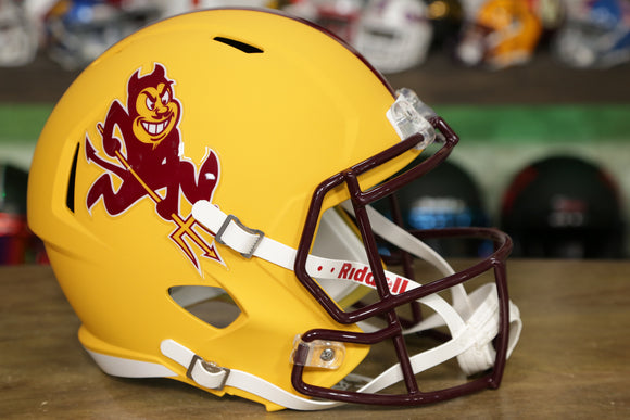 Arizona State Sun Devils Riddell Speed Replica Helmet - Matte Yellow Sparky