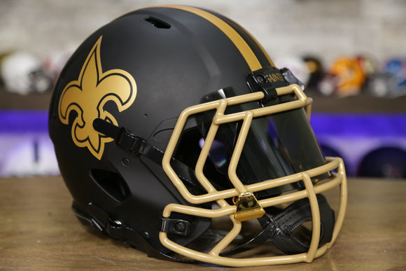 New Orleans Saints Special Edition Eclipse Authentic Helmet Upgraded Build