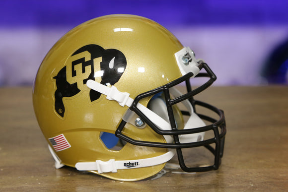 Colorado Buffaloes Schutt XP Mini Helmet - Gold