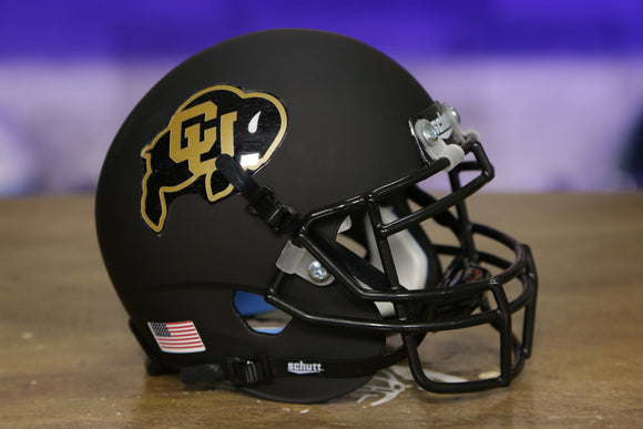 Colorado Buffaloes Schutt XP Mini Helmet - Matte Black