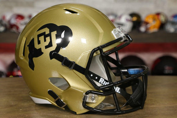 Colorado Buffaloes Riddell Speed Replica Helmet - Gold