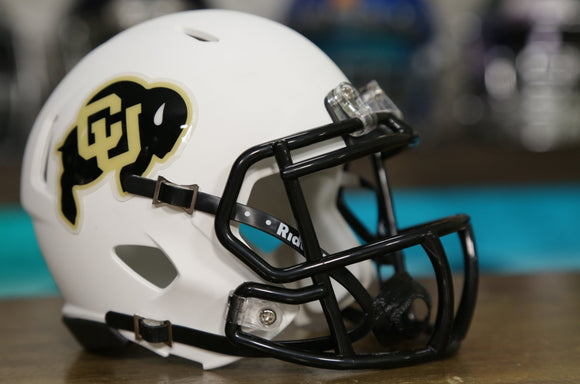 Colorado Buffaloes Riddell Speed Mini Helmet - Flat White