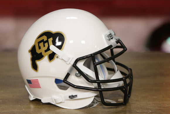 Colorado Buffaloes Schutt XP Mini Helmet - White