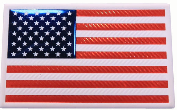 EmbossTech US Flag - Raised Helmet Decal