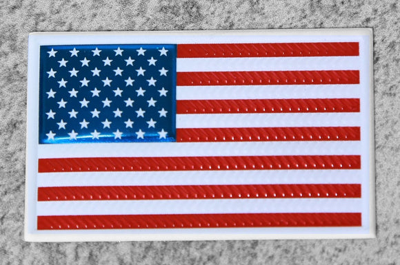 EmbossTech US Flag | Raised Helmet Decal
