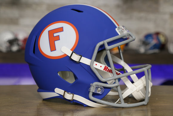 Florida Gators Riddell Speed Replica Helmet - Blue with Circle F