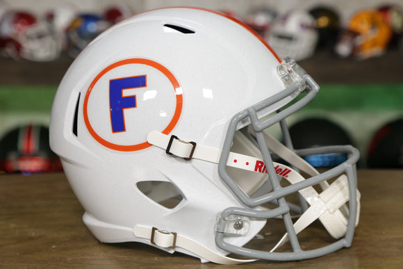 Florida Gators Riddell Speed Replica Helmet - White with Circle F