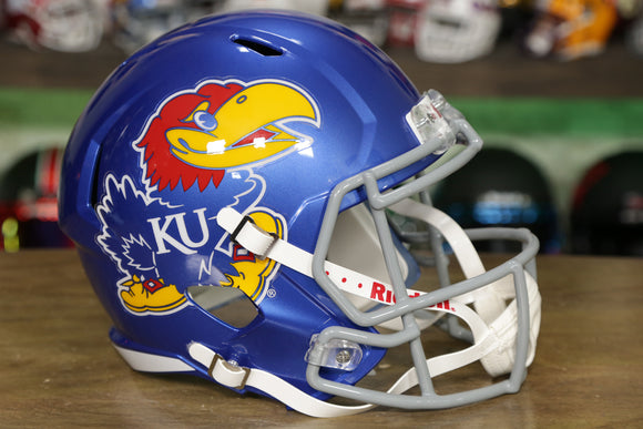 Kansas Jayhawks Riddell Speed Replica Helmet - Oversized Big Jay