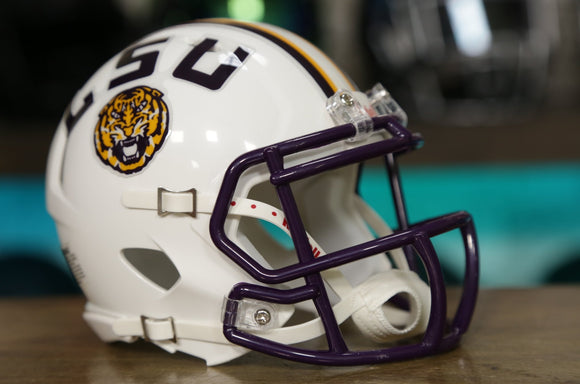 LSU Tigers Riddell Speed Mini Helmet - White