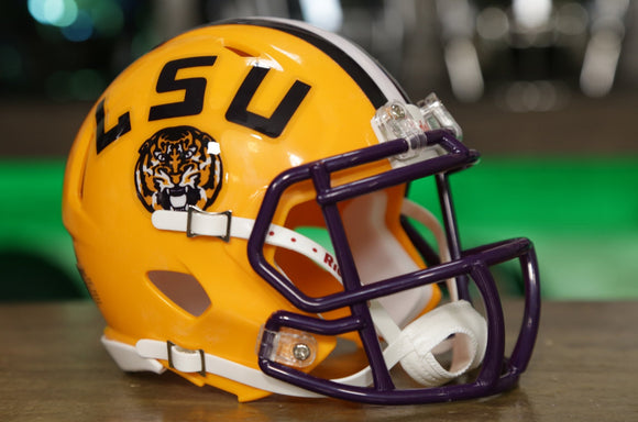 LSU Tigers Riddell Speed Mini Helmet - Yellow