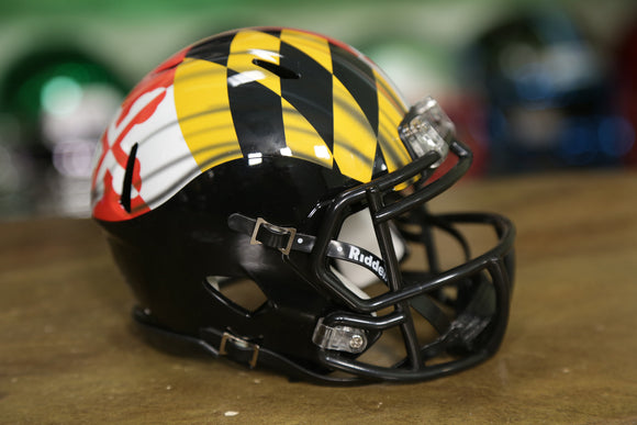 Maryland Terrapins Riddell Speed Mini Helmet