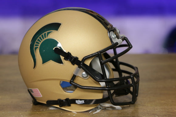 Michigan State Spartans Schutt XP Mini Helmet - Matte Gold