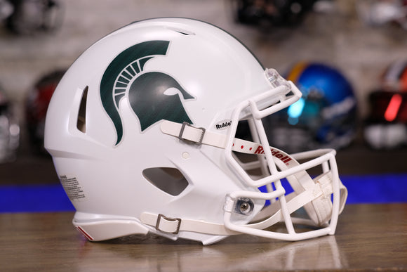 Michigan State Spartans Riddell Speed Authentic Helmet - White