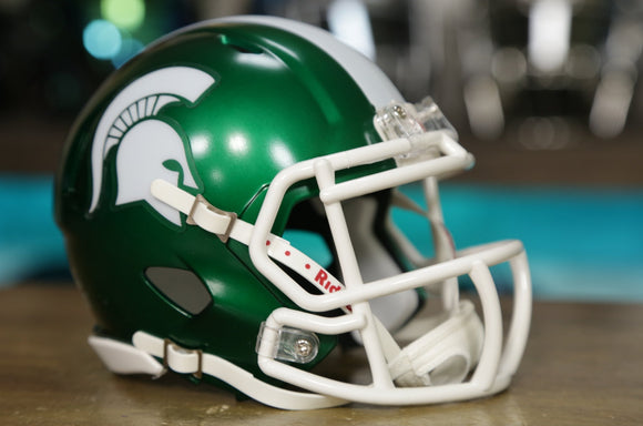 Michigan State Spartans Riddell Speed Mini Helmet - Satin Green