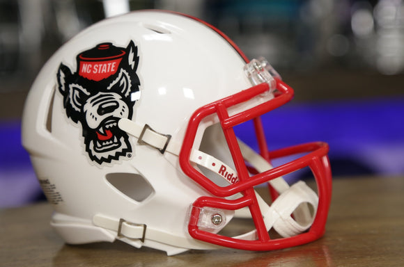 North Carolina State Wolfpack Riddell Speed Mini Helmet - White Tuffy