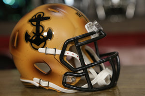 Navy Midshipmen Riddell Speed Mini Helmet - Bronze Throwback