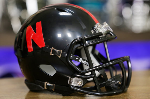 Nebraska Cornhuskers Riddell Speed Mini Helmet - Black