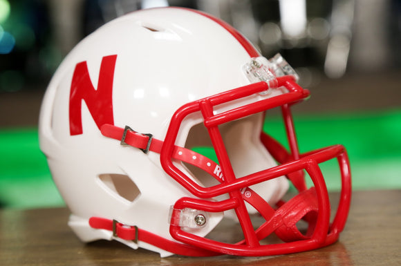 Nebraska Cornhuskers Riddell Speed Mini Helmet - White